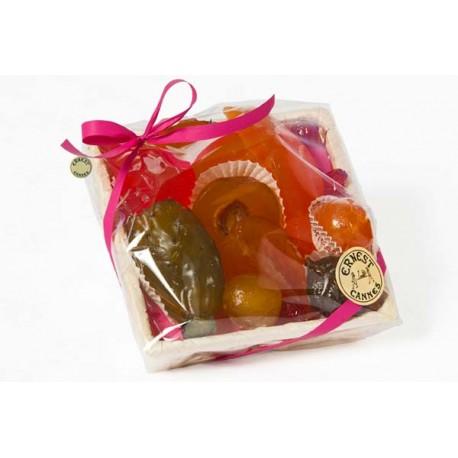 Assortiment fruits confits : panier 570 gr