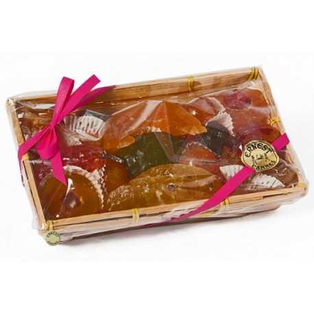 Assortiment fruits confits : panier 850 gr